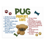 Pug Property Laws 4 Postcard