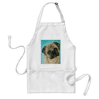 Pug, Pug Art by The Stardust Studio Adult Apron