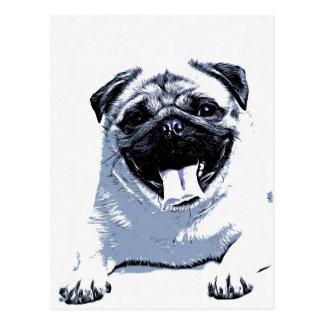 Pug Pugly Postcard