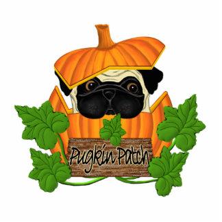 Pug Pumpkin Patch Standing Photo Sculpture
