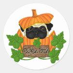 Pug Pumpkin Patch Sticker