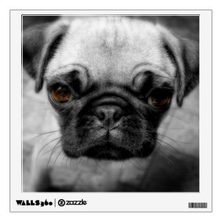 Pug Pup Wall Decal