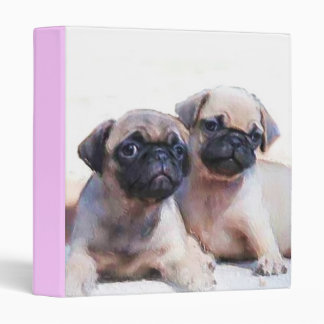 Pug puppies binder