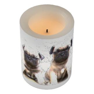 Pug Puppies Dog LED candle Flameless Candle