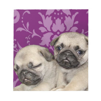 Pug puppies dog notepad