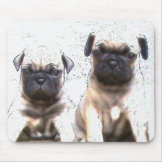 Pug puppies mousepad