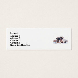 Pug puppies skinny business card