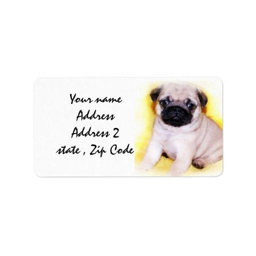 Pug Puppy Address Label