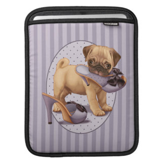 Pug Puppy and Shoe Sleeves For iPads