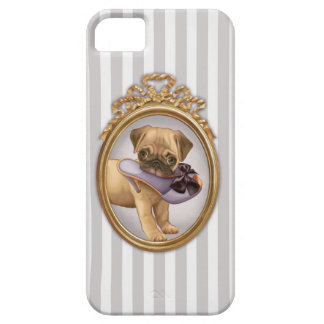 Pug Puppy and Shoe iPhone 5 Cover