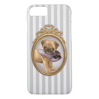 Pug Puppy and Shoe iPhone 7 Case