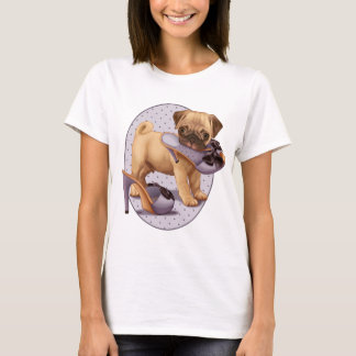 Pug Puppy and Shoe T-Shirt