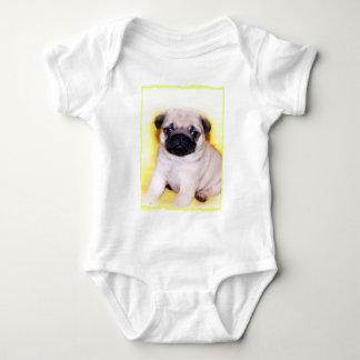 Pug puppy baby baby bodysuit