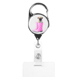 Pug Puppy Badge Holder