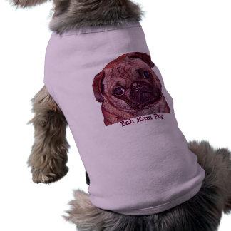 "Pug Puppy ""Bah Hum Pug"" Dog Sweater Tee"