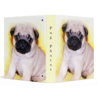Pug Puppy binder binder