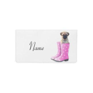 Pug Puppy Checkbook Cover