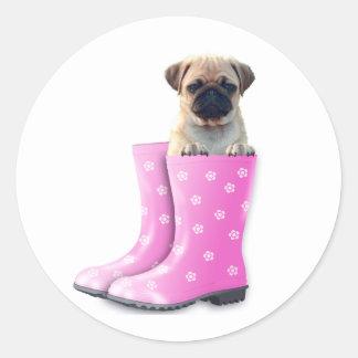 Pug Puppy Classic Round Sticker