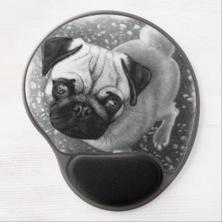 Pug Puppy Dog Art Gel Mouse Pad