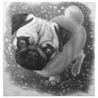 Pug Puppy Dog Art Napkin