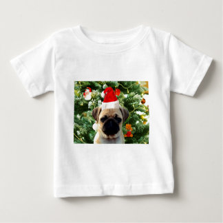 Pug Puppy Dog Christmas Tree Ornaments Snowman Baby T-Shirt