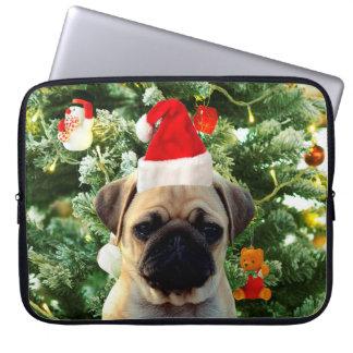 Pug Puppy Dog Christmas Tree Ornaments Snowman Computer Sleeve