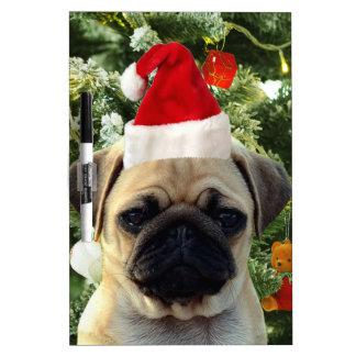 Pug Puppy Dog Christmas Tree Ornaments Snowman Dry-Erase Board
