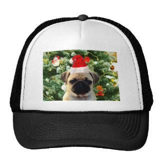 Pug Puppy Dog Christmas Tree Ornaments Snowman Trucker Hat