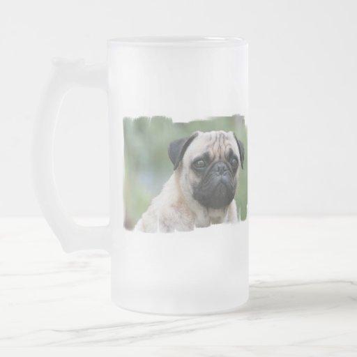 Pug Puppy Dog Frosted Beer Mug