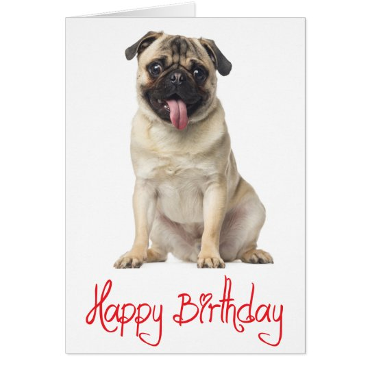 Pug puppy dog happy birthday card verse inside zazzle pug puppy dog happy birthday card verse inside bookmarktalkfo Choice Image