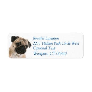Pug Puppy Dog Return Address Name Label