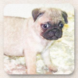 Pug Puppy Drink Coaster