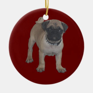 Pug Puppy First Christmas Ornaments