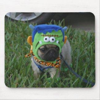 Pug Puppy Frankenpug mousepad