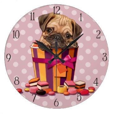 Halloween Themed Pug puppy large clock
