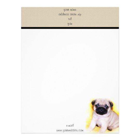 Pug puppy letterhead