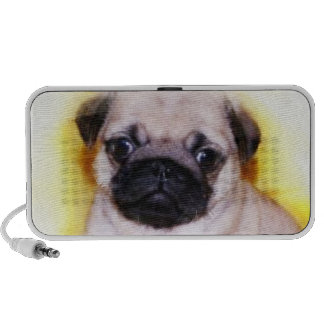 Pug Puppy Mp3 Speakers