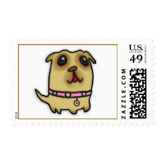 Pug Puppy Postage Stamps Stamp
