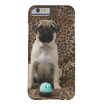 Pug puppy sitting against animal 2 barely there iPhone 6 case