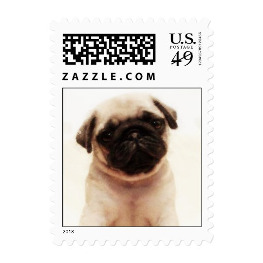 Pug puppy small stamps