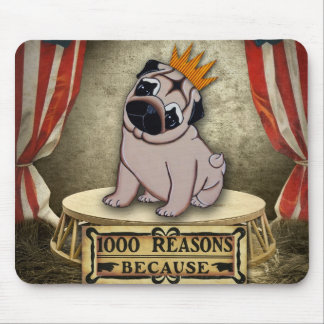 Pug Puppy Thousand Reasons Adorable Mouse Pad