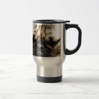Pug puppy travel mug