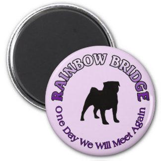 PUG RAINBOW BRIDGE SYMPATHY - DOG PET MAGNETS