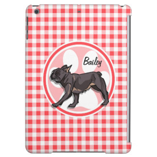 Pug; Red and White Gingham iPad Air Case