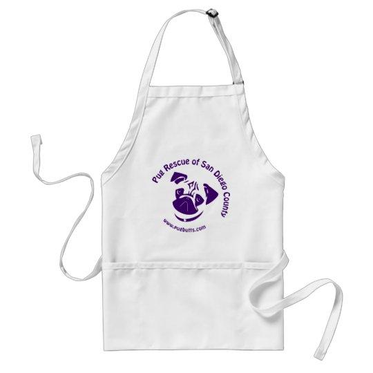 Pug Rescue Logo Purple Adult Apron