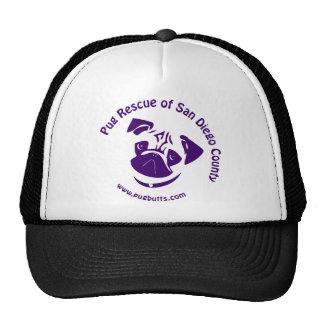 Pug Rescue Logo Purple Mesh Hat