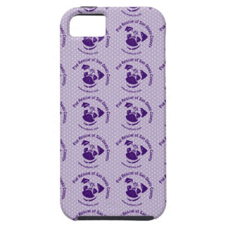 Pug Rescue Logo Purple iPhone 5 Cases