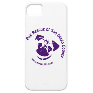 Pug Rescue Logo Purple iPhone 5 Covers