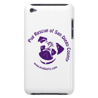 Pug Rescue Logo Purple iPod Case-Mate Case
