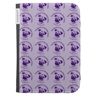Pug Rescue Logo Purple Kindle Folio Case